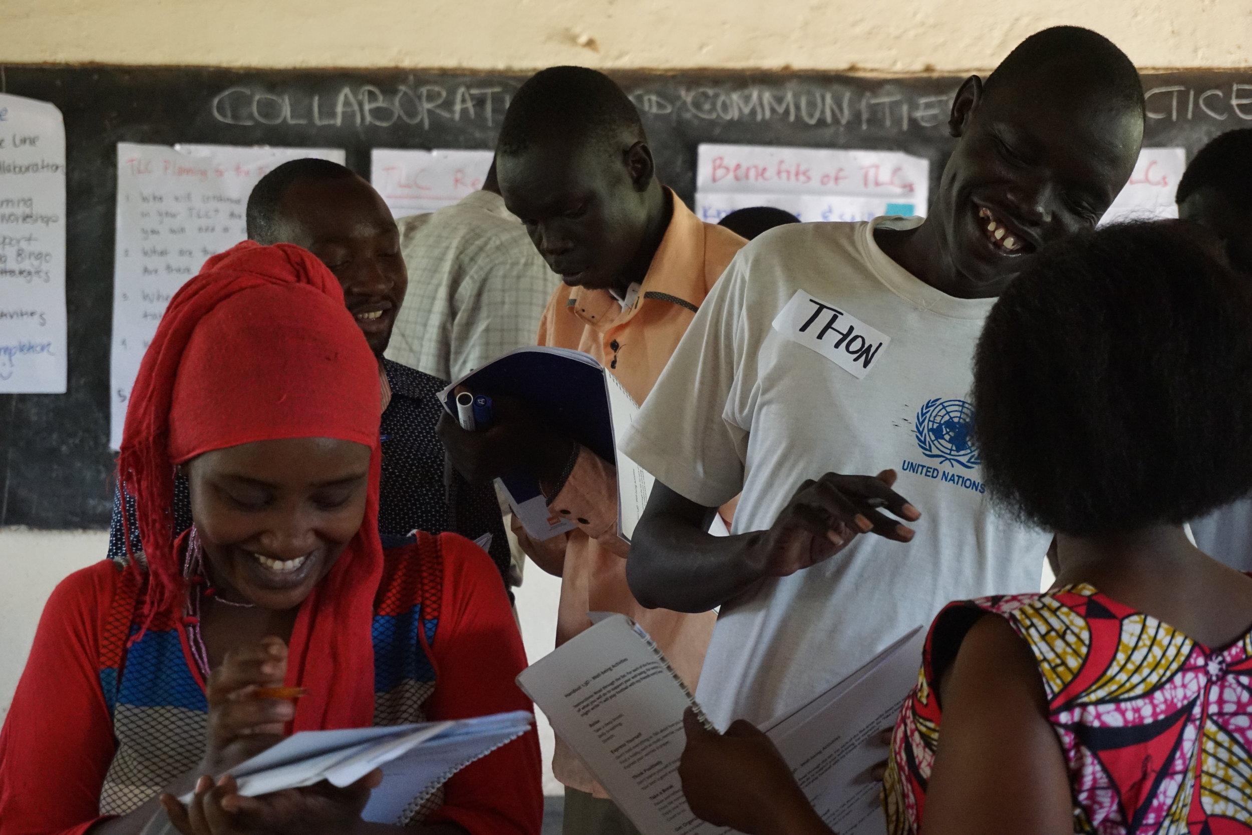 Teachers taking part in the Teacher in Crisis Contexts training in Kakuma Refugee Camp, Kenya