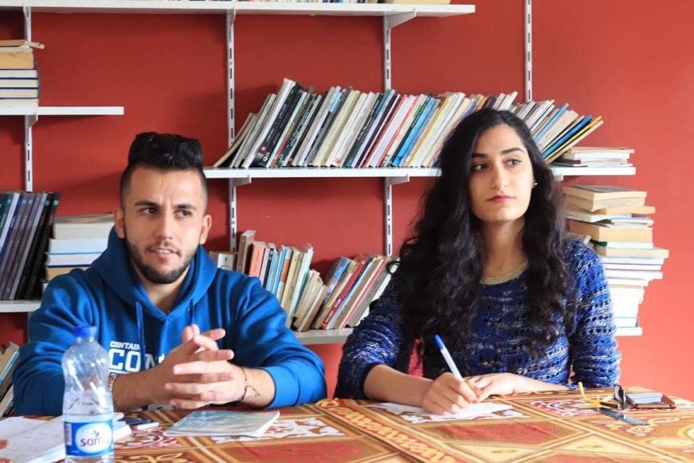 Sky School students in Amman (Jordan) during a class.