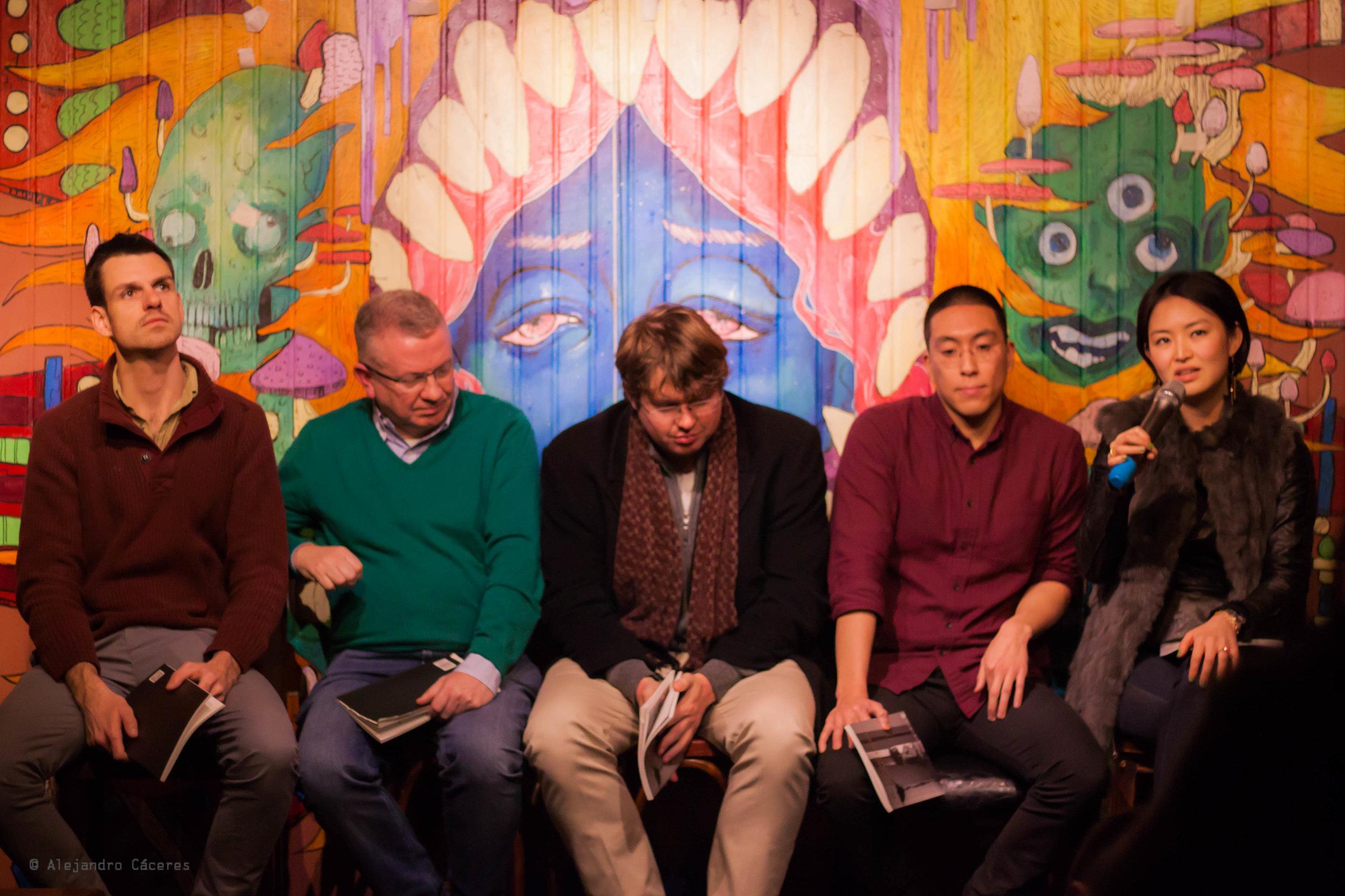 From left to right: Alex Gobin, Colum Murphy, Ryan Thorpe, Kenny Ong, Juli Min