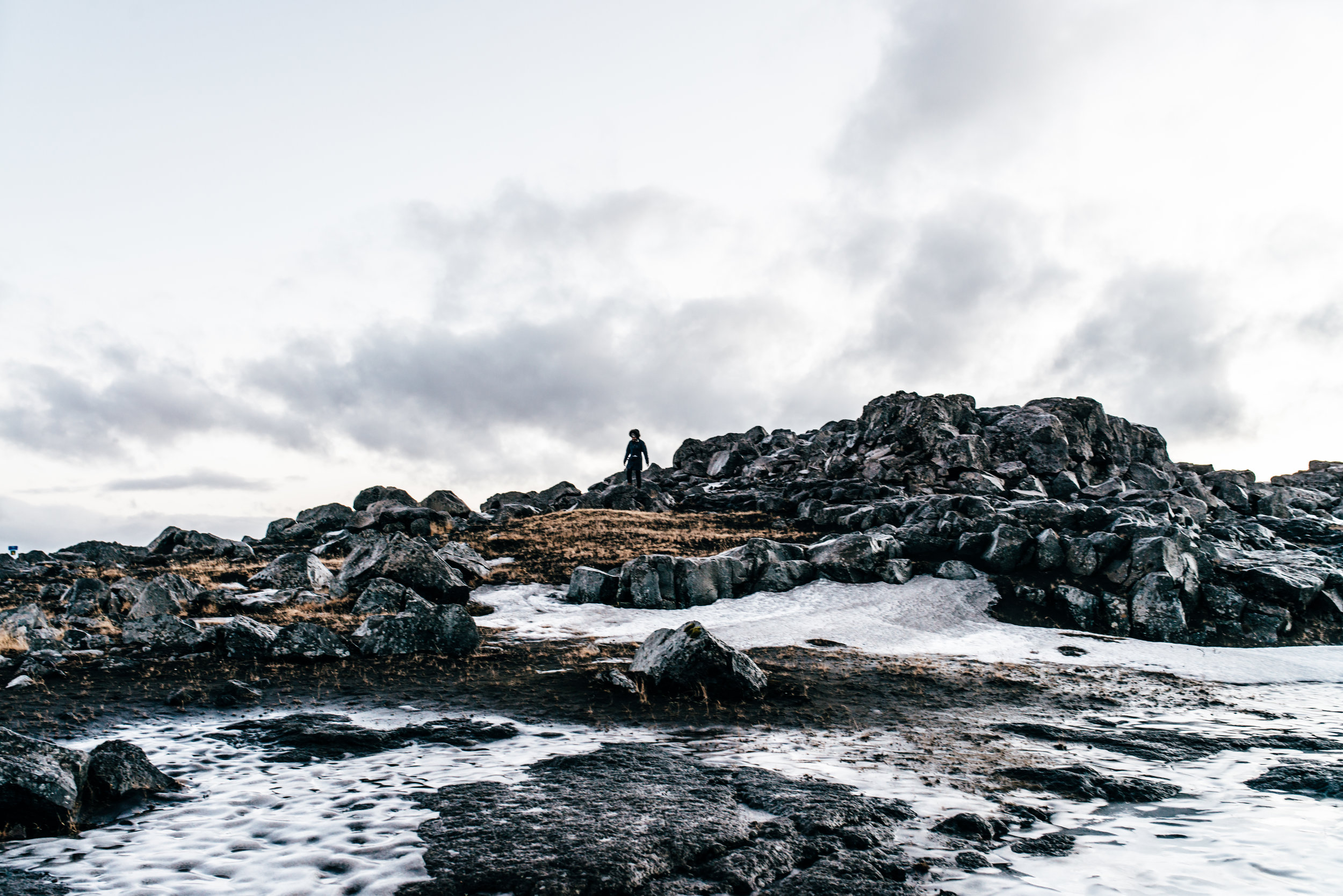 The hike to Dettifoss wasn't long... except it was completely frozen! We had to do some hard core rock climbing and detouring to find our way there.