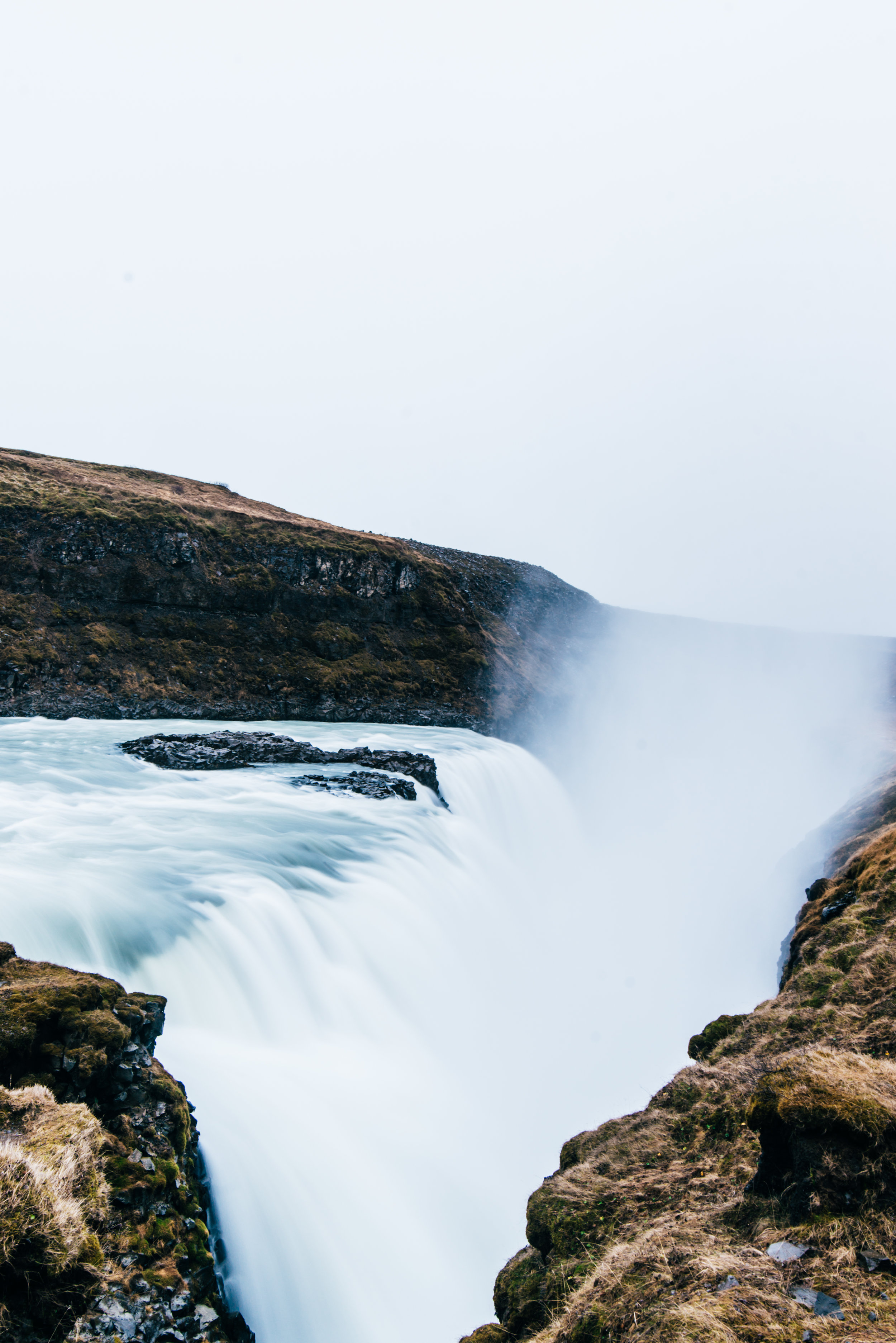 Our last foss, Gullfoss. This was just a tiny part of the HUGE WATERFALL.