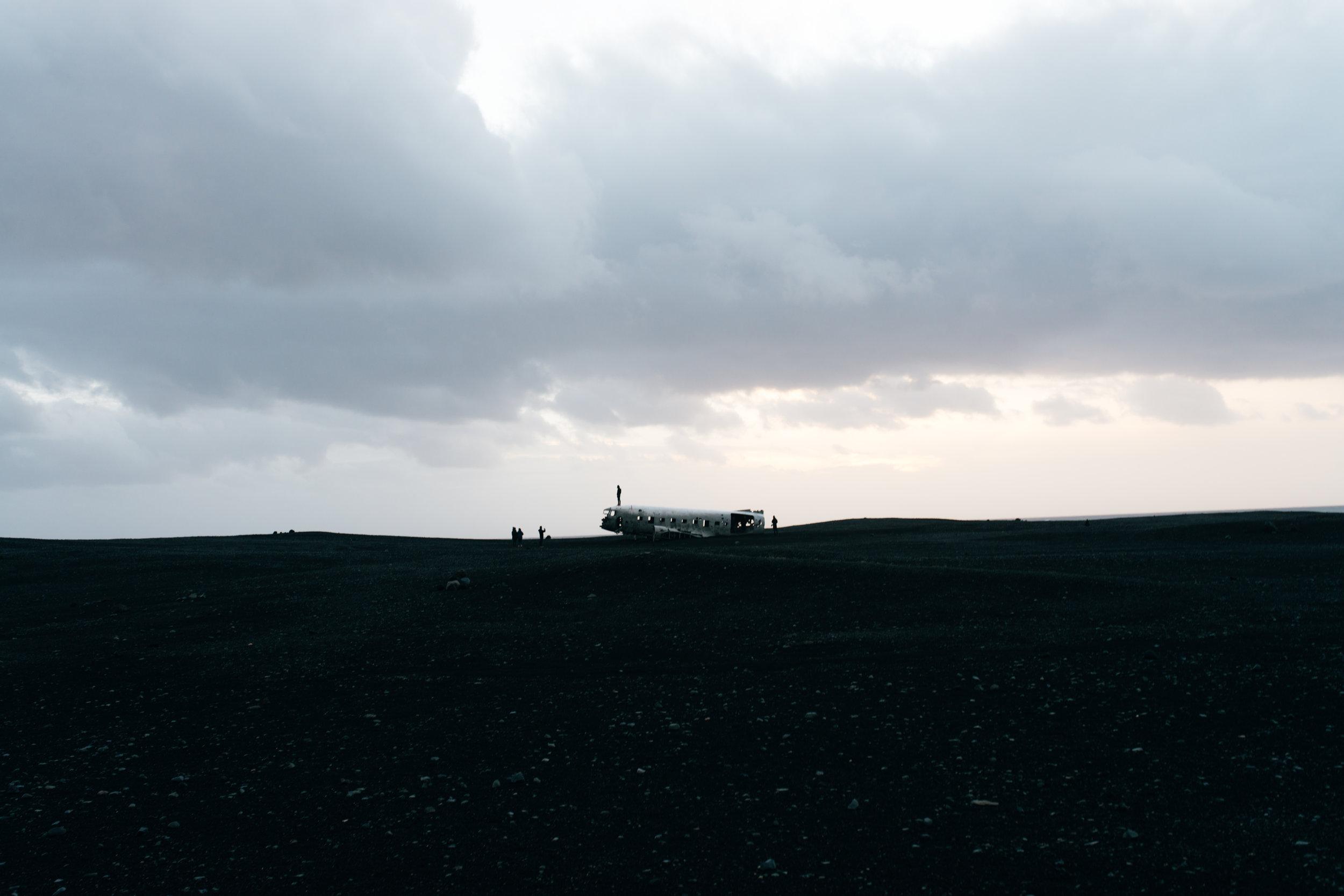 I FINALLY SEE IT. Located on Sólheimajökull beach.