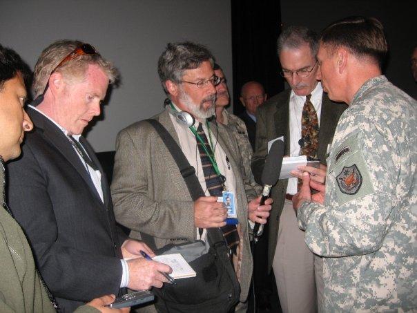 Interviewing Gen. Petreaus.