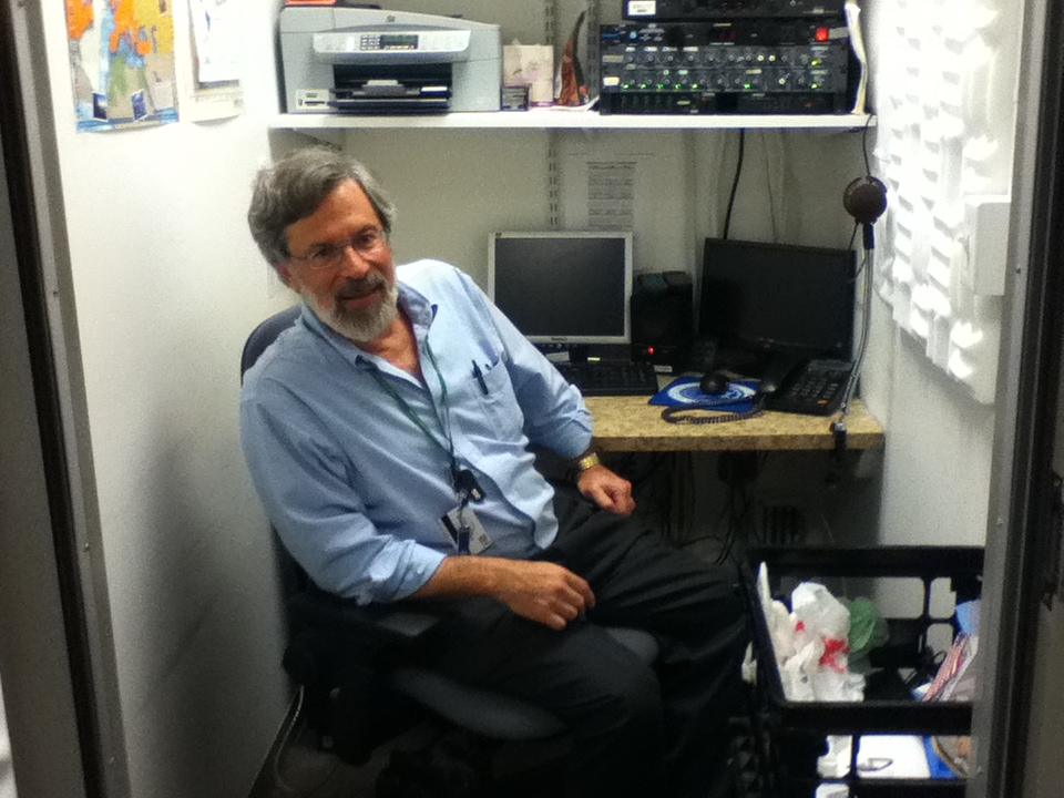 In the VOA Pentagon radio booth.