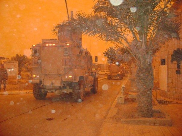 Sandstorm, Camp Liberty, Baghdad.