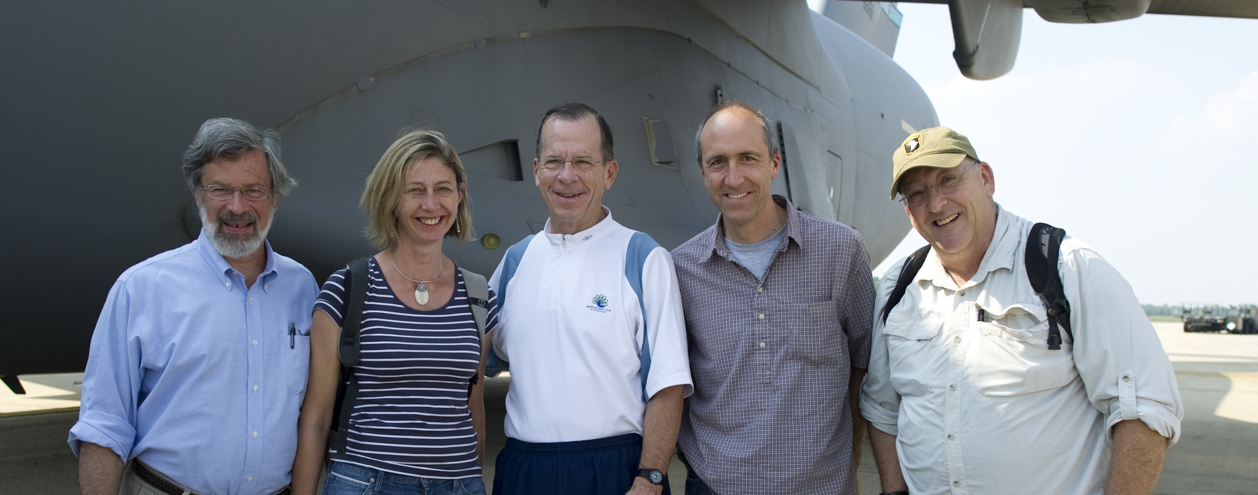 Reporters on a round-the-world trip with Admiral Mike Mullen, Chairman of the Joint Chiefs of Staff.