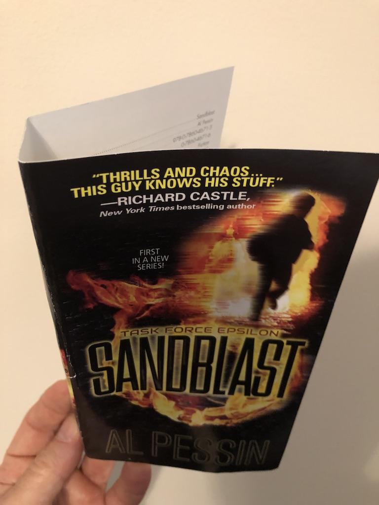 Sandblast cover proof. A very quick read!