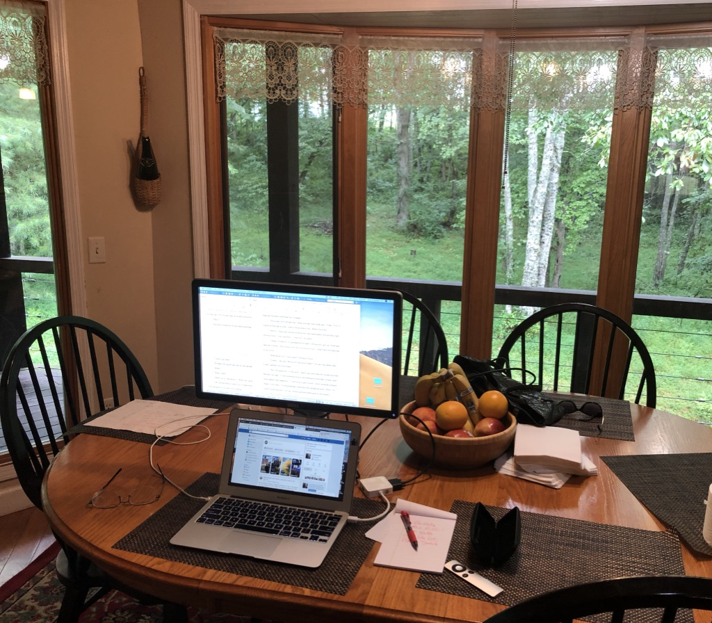 My August writing view