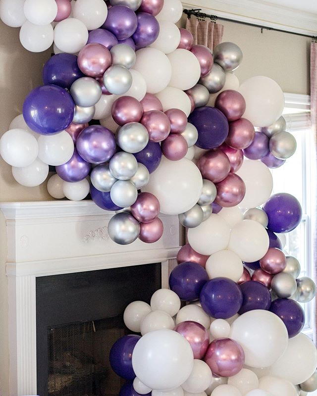 """""""Life is like a balloon: you must put something into it to get the best possible results."""" -William Cranch Bond⠀ .⠀ .⠀ .⠀ .⠀ .⠀ .⠀ .⠀ #balloongarland⠀ #organicballoongarland⠀ #chromeballoons⠀ #qualatex⠀ #sweetwoodcreativeco⠀ #eventdesign⠀ #eventplanning⠀ #atlantaeventplanner⠀ #atlantapartyplanner"""