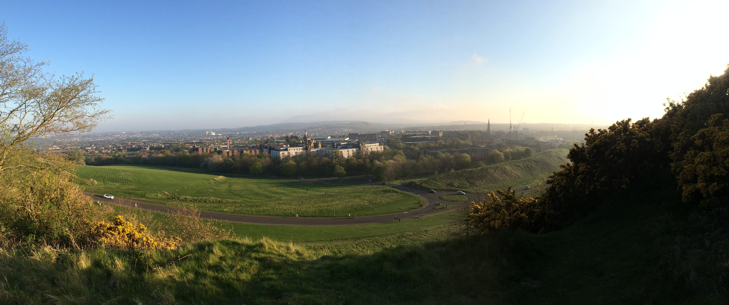 Panoramic view from Arthur's Seat - 2016