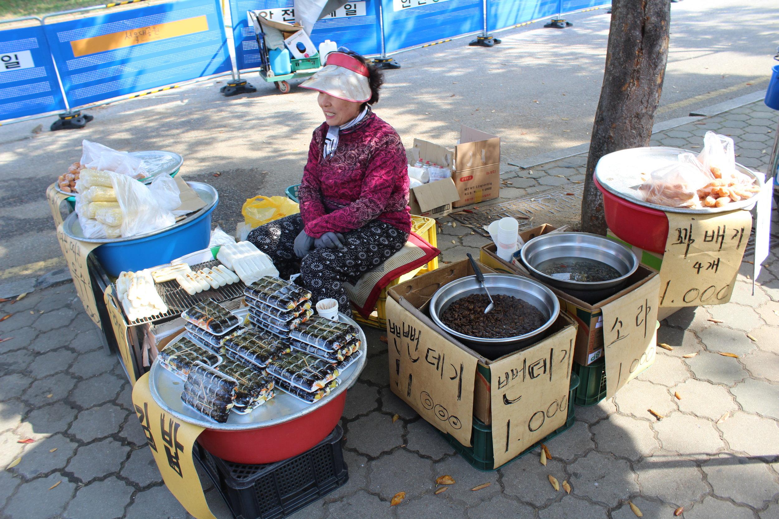 Typical street food stall, Seoul (2016)