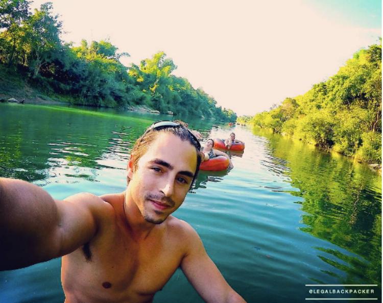 Tubing down the river - Laos, 2016