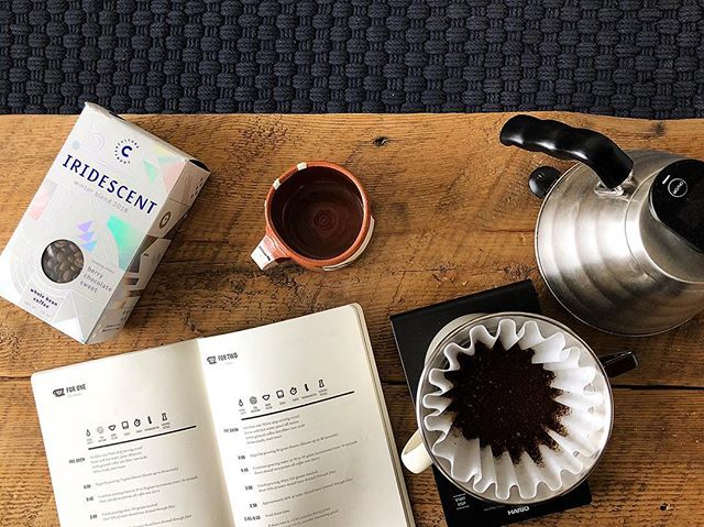 We're kickin' off the holiday season with a few of our favorite winter blends, this is @counterculturecoffee Iridescent blend—a sweet berry chocolate, brewed using one of Grounded's own For Two recipes.  Whatever manual brewer you've got, we've got a tailored recipe to get you started and making delicious cups of coffee.