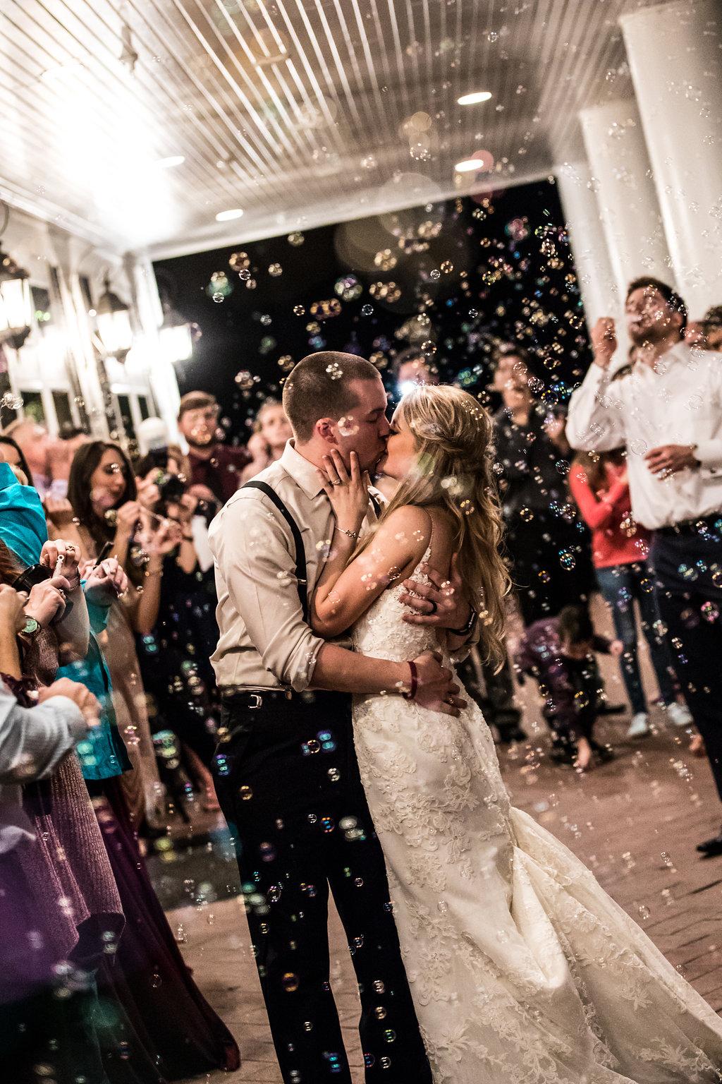 bubble send off wedding inspiration