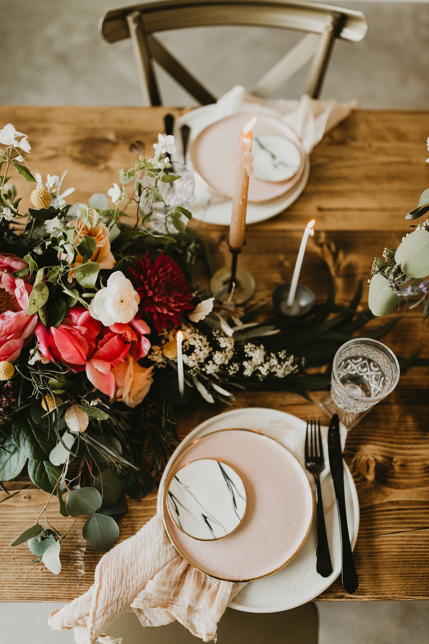 blush pink plate wedding eliana bernard - epoch co austin wedding coordinator