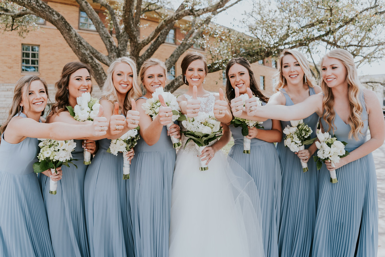 aggie bride blue bridesmaids college station texas wedding theo graphics epoch co