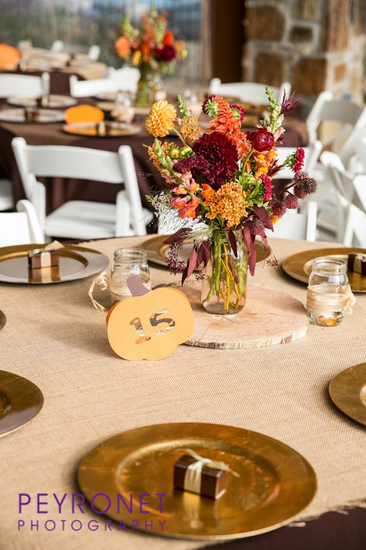 Fall Rustic Texas Wedding Place Setting Favor Double creek Crossing Epoch Co Peyronet Photography