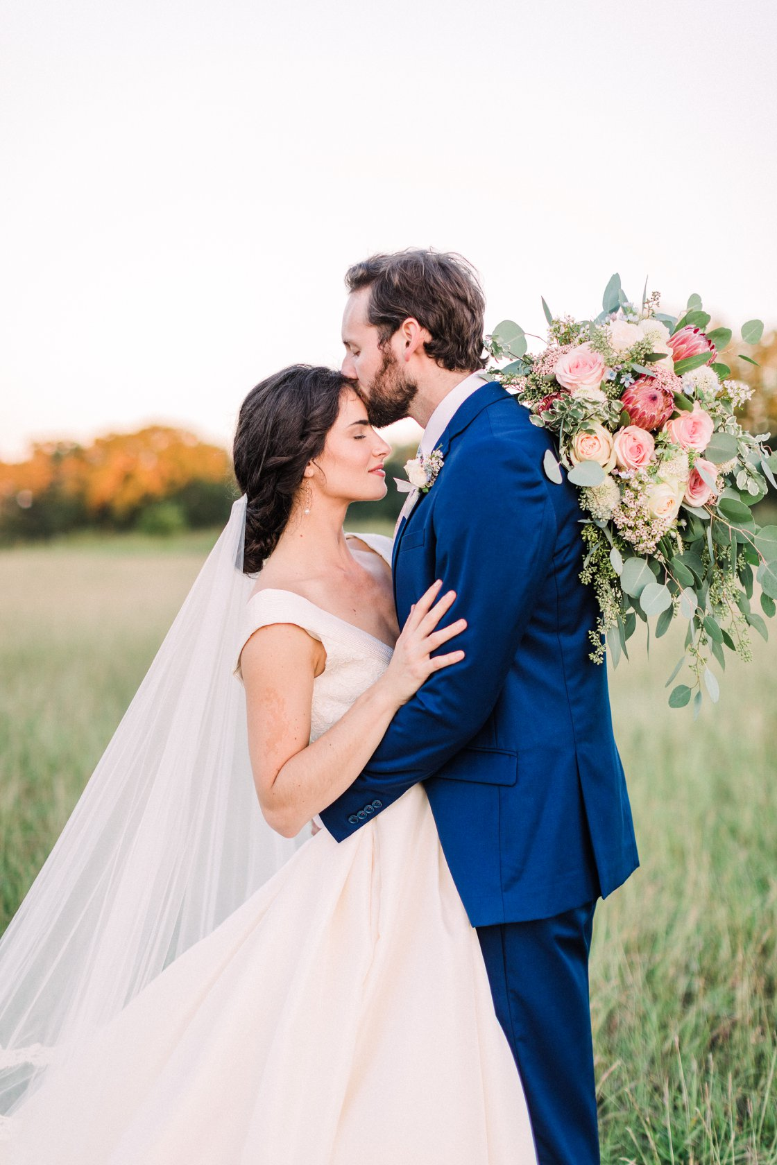 Bride and Groom Sunset by Bonner Rhae at The Prairie in Round Top wedding venue epoch co texas wedding planners.jpg