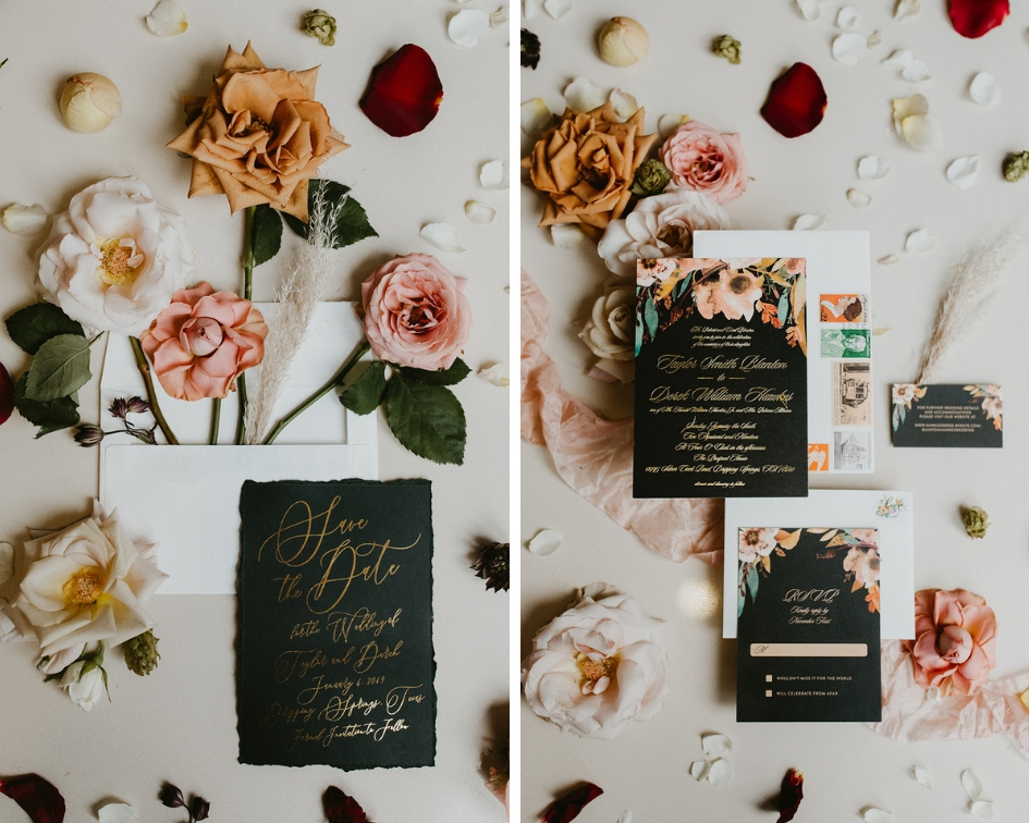 Photographer : Century Tree Productions  ||  Floral : Tersilla Co ||  Stationery : Minted ||  Venue : The Prospect House, Dripping Springs, Texas