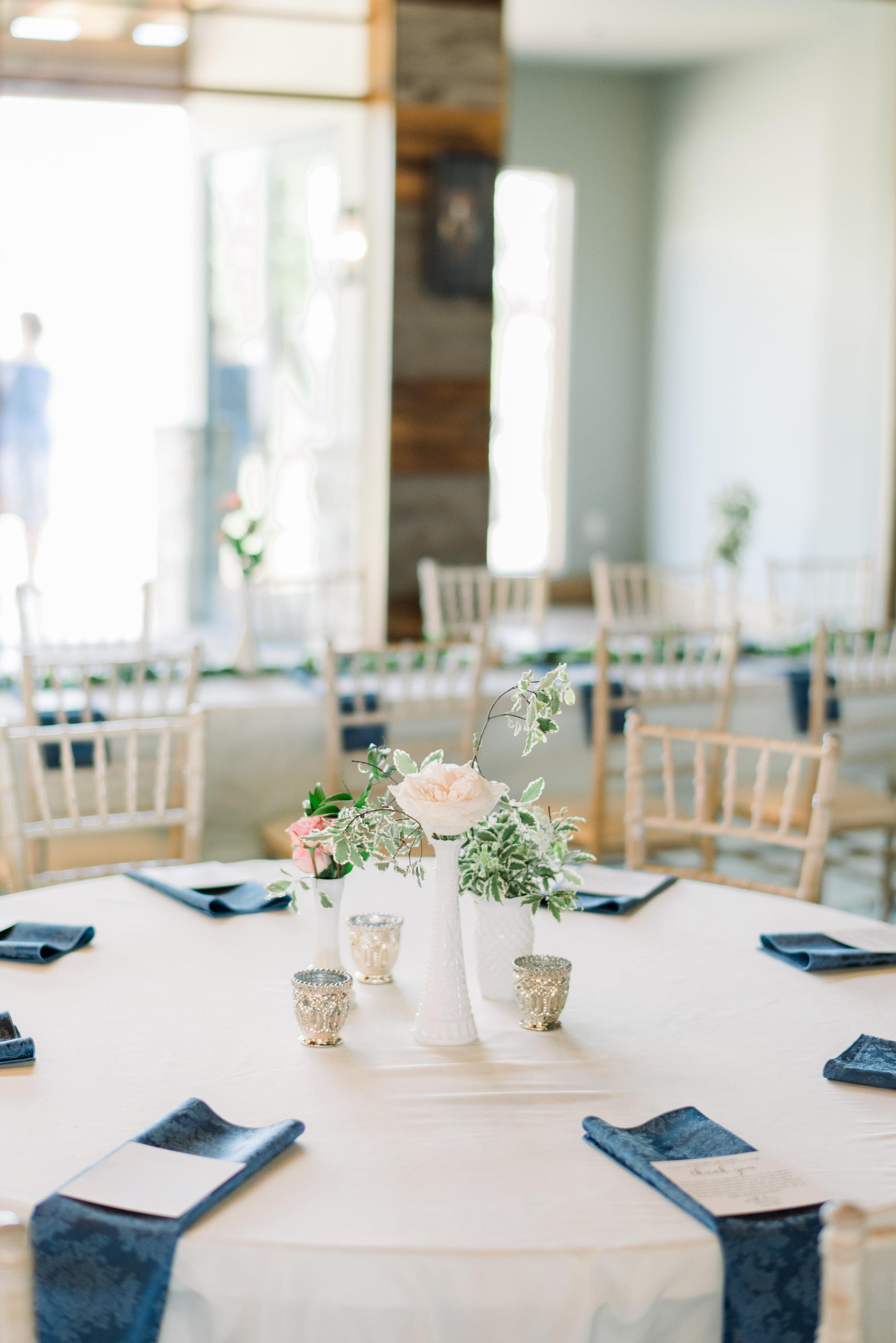 milk glass bud vase centerpiece romantic simple blush inspiration epoch co wedding planner coordinator texas college station