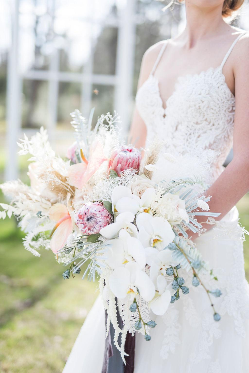 boho beachy bridal bouquet inspiration brickhouse wedding dress boutique houston epoch co