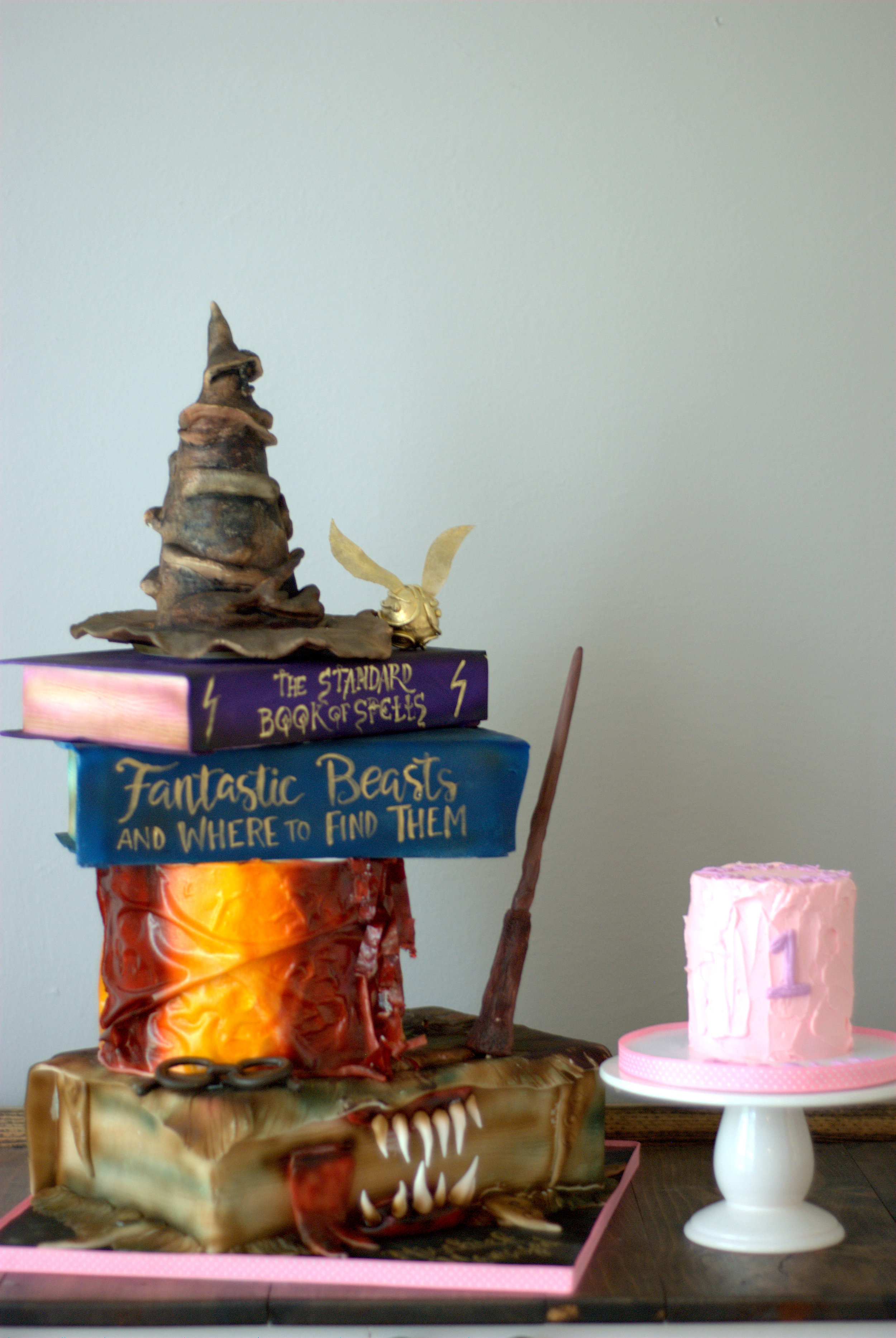 Fantastic Beasts and Where to Find Them wedding grooms Cake + destination wedding coordinator epoch co austin houston dallas fort worth college station