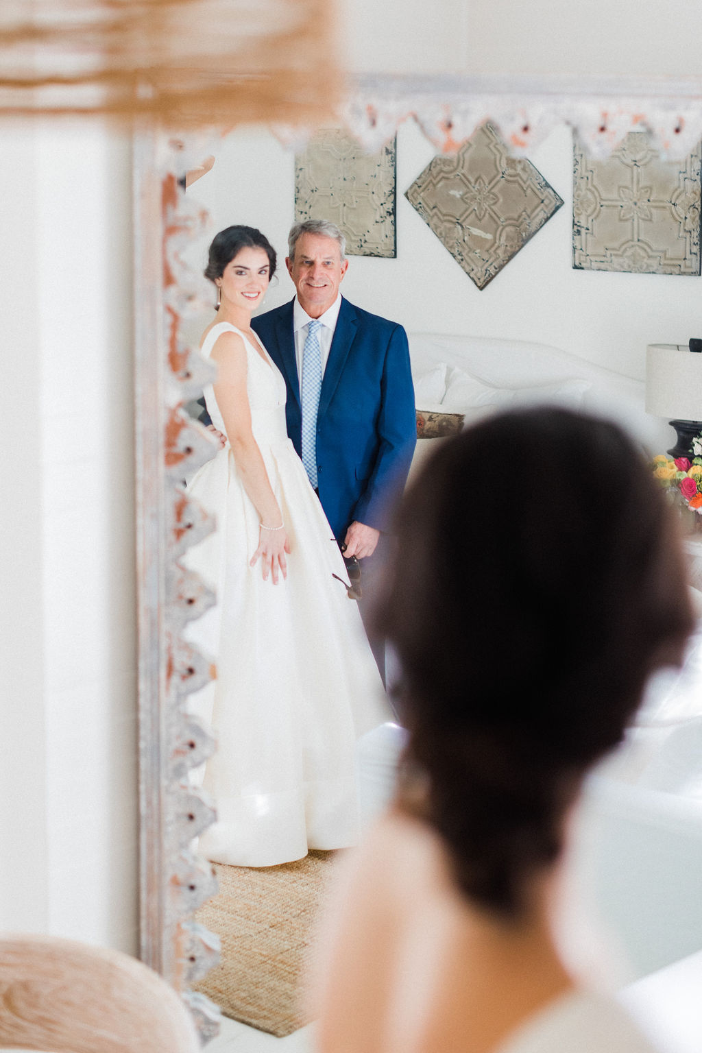 first look with dad wedding day epoch co bonner rhae photography destination wedding coordinator planner austin houston texas