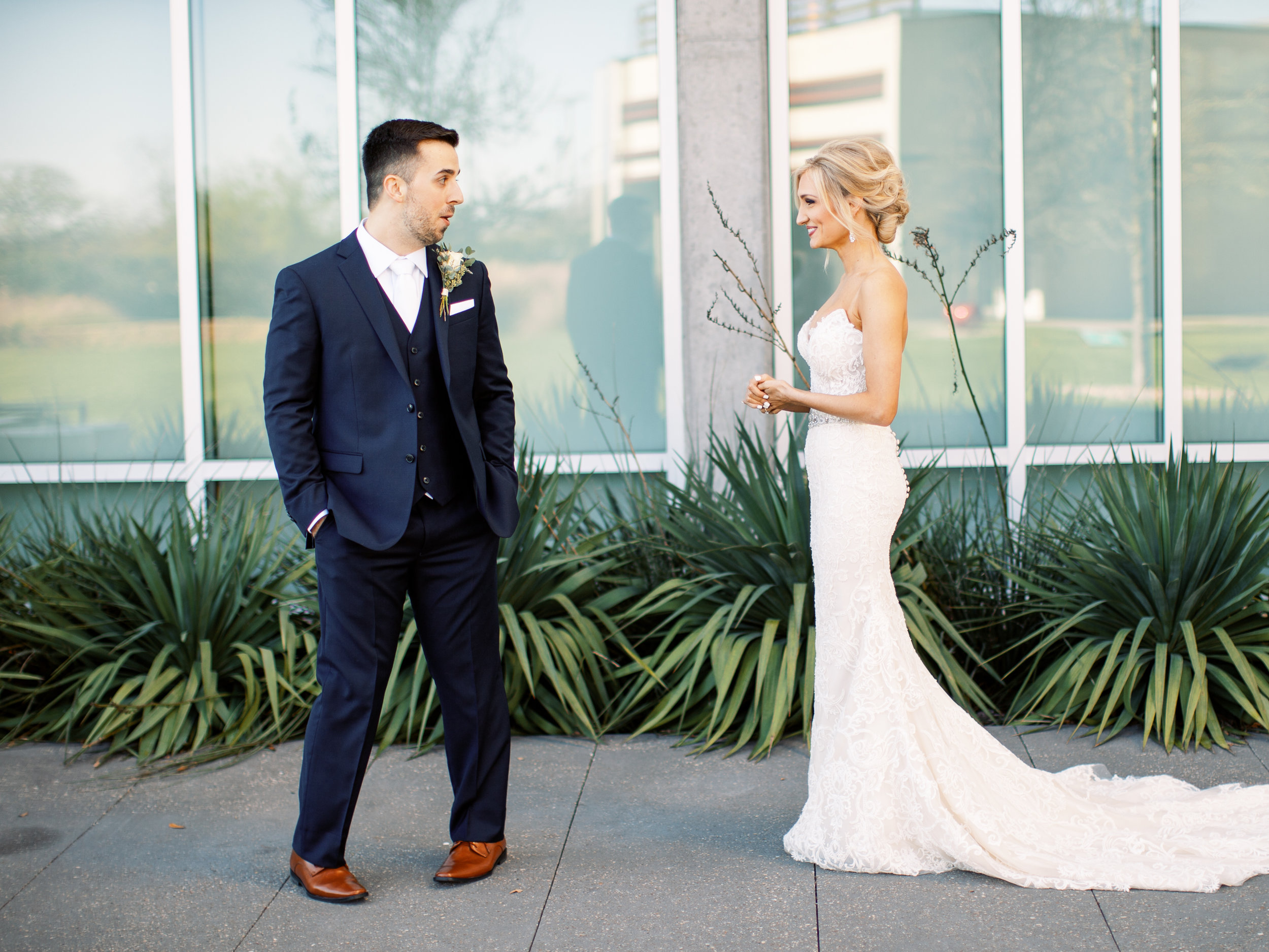 First look with groom wedding day california florida + destination planner coordinator epoch co + hannah mayson film photographer