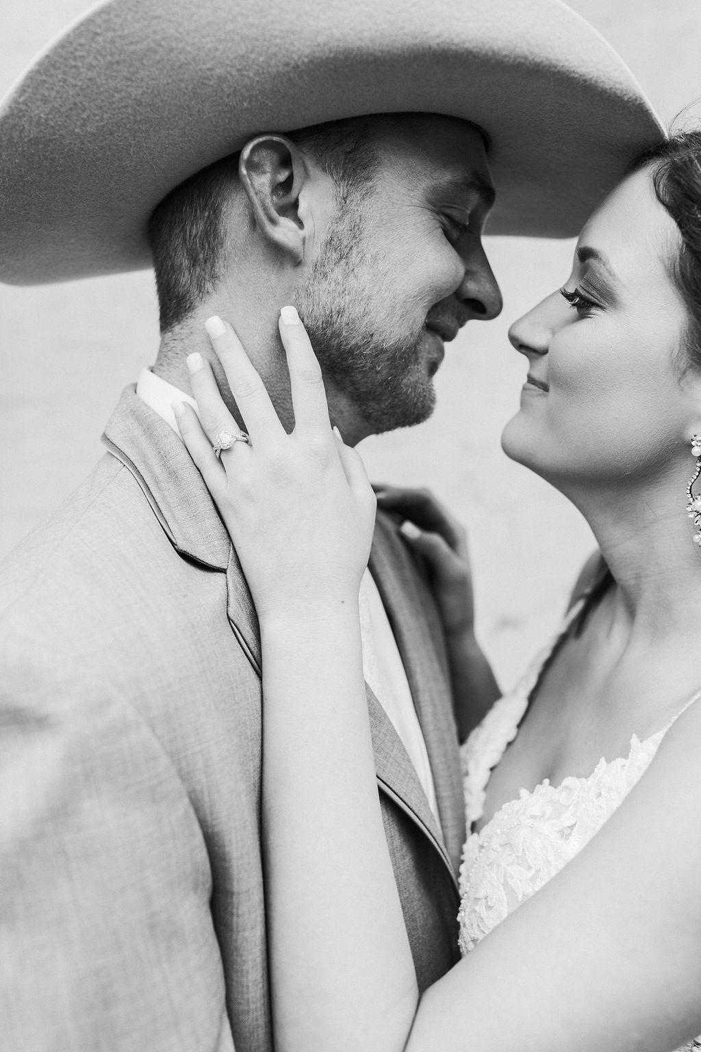 Epoch Co+ Destination wedding planner | First Look Photo Ideas with Groom | Rockin Star Ranch, Brenham Wedding Venue | Velvet + Wire Photography | Austin Wedding Planner | Black + White Image