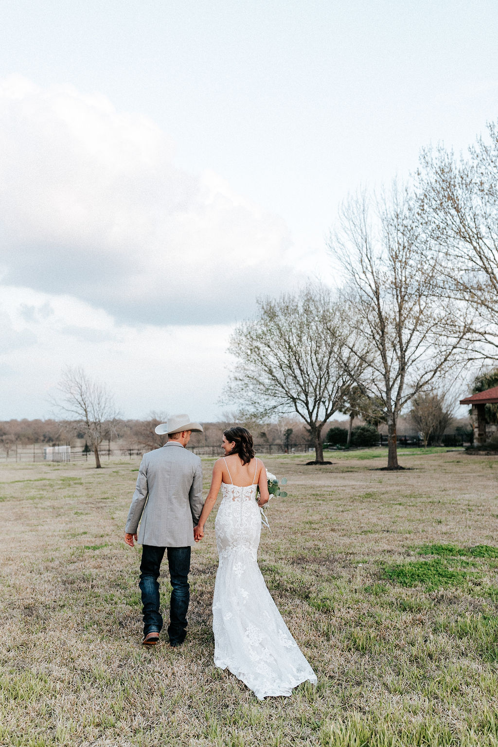 Epoch Co+ Destination wedding planner | First Look Photo Ideas with Groom | Outside Rustic | Wedding Dress  | Velvet + Wire Photography | Austin Wedding Planner