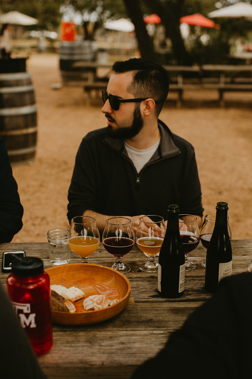 Destination wedding planner + Jester King Brewery + Groom Wedding Day Austin, Dripping Springs, Texas + beer + craft beer