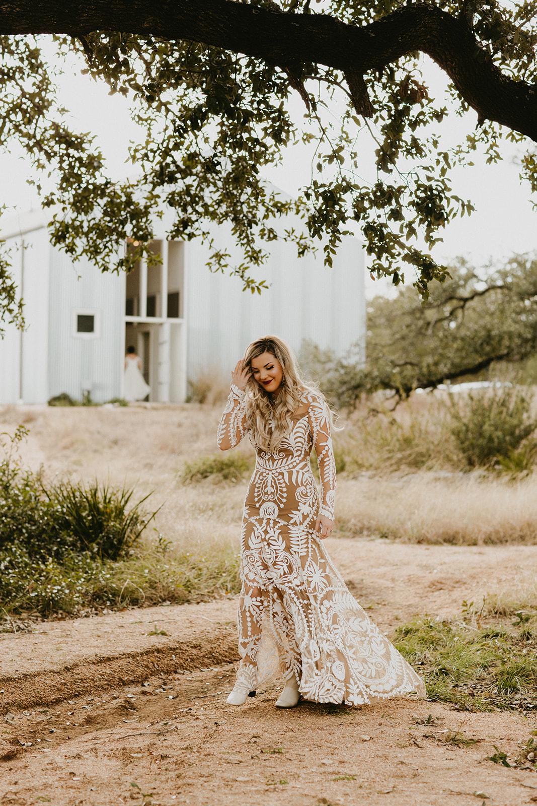 Hawkes_Mr.___Mrs-12.jpg Epoch Co+ | Bride + Groom First Look | Austin Wedding Venue Prospect House | Bridal Dress Rue De Seine + Wedding Dress + Bridal Shoes + Booties  | Austin Wedding Planner
