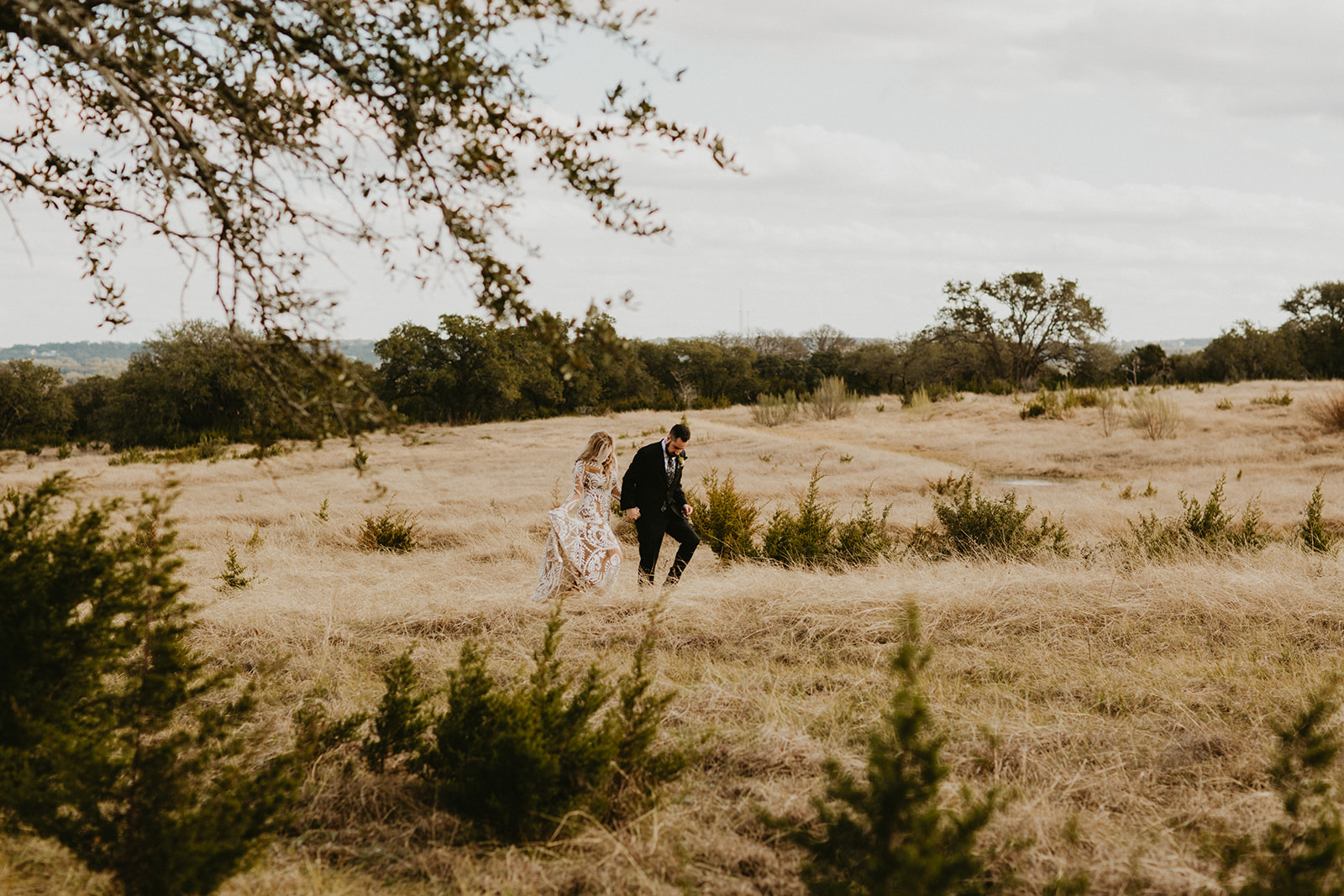 Epoch Co+ | Bride + Groom First Look | Austin Wedding Venue Prospect House | Private Vow Exchange + Adventure + Country + Outdoors + Moody | Austin Wedding Coordinator