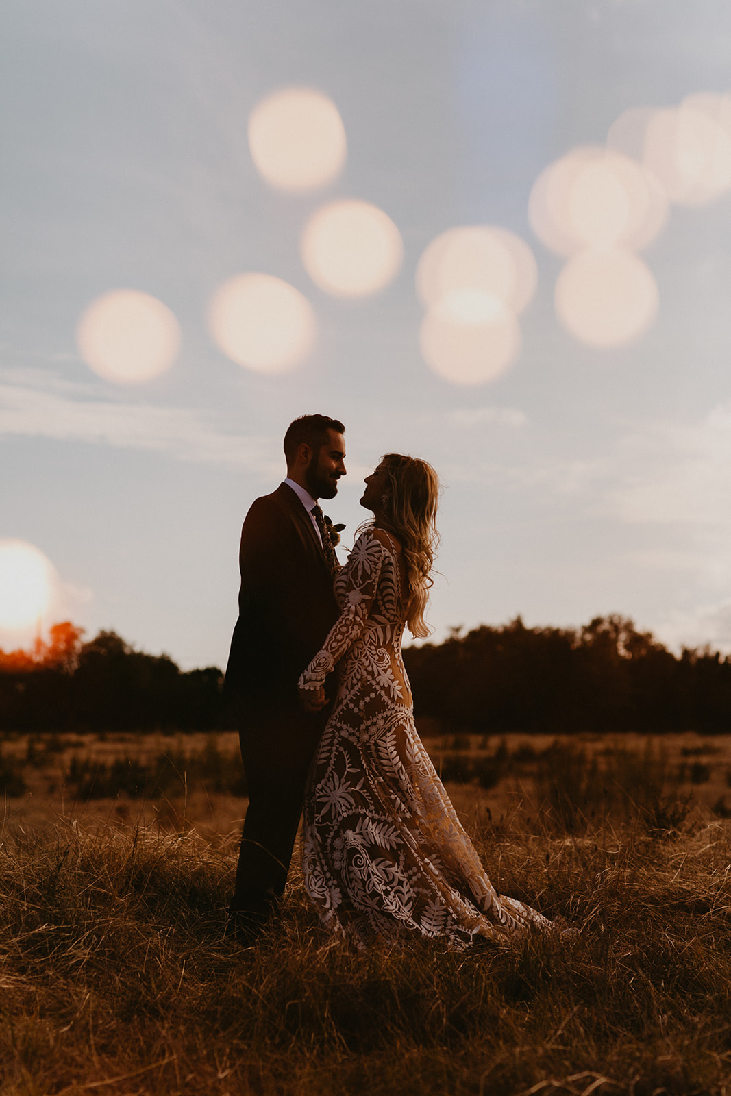 Epoch Co+ | Bride + Groom First Look Portraits | Austin Wedding Venue Prospect House | Adventure + Country + Outdoors + Moody + Bokeh | Austin Wedding Photographer Century Tree Productions