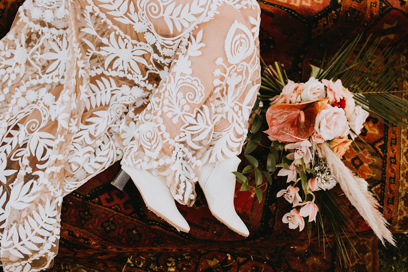 Boho Rue De Seine Wedding Dress Outdoor Bridal Portrait + texas wedding planner epoch co