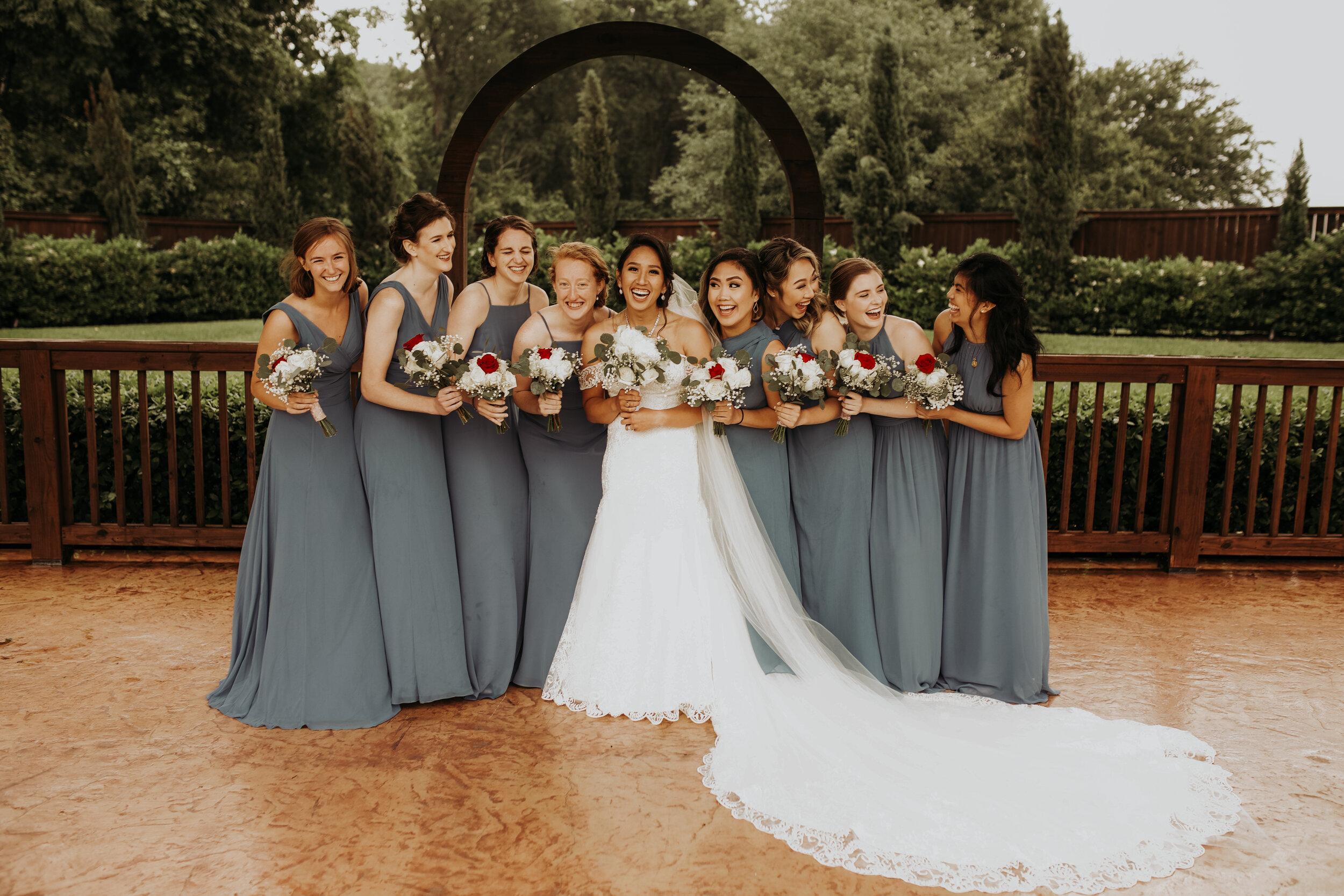 Bride and Bridesmaids || Springs in Katy || Houston Wedding Planner || Epoch Co+