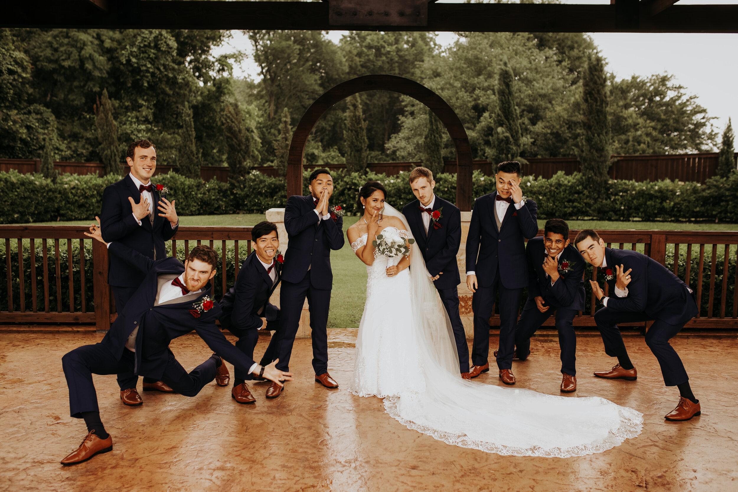 Bride and Groomsmen || The Springs in Katy, TX || Houston Wedding Planner || Epoch Co+