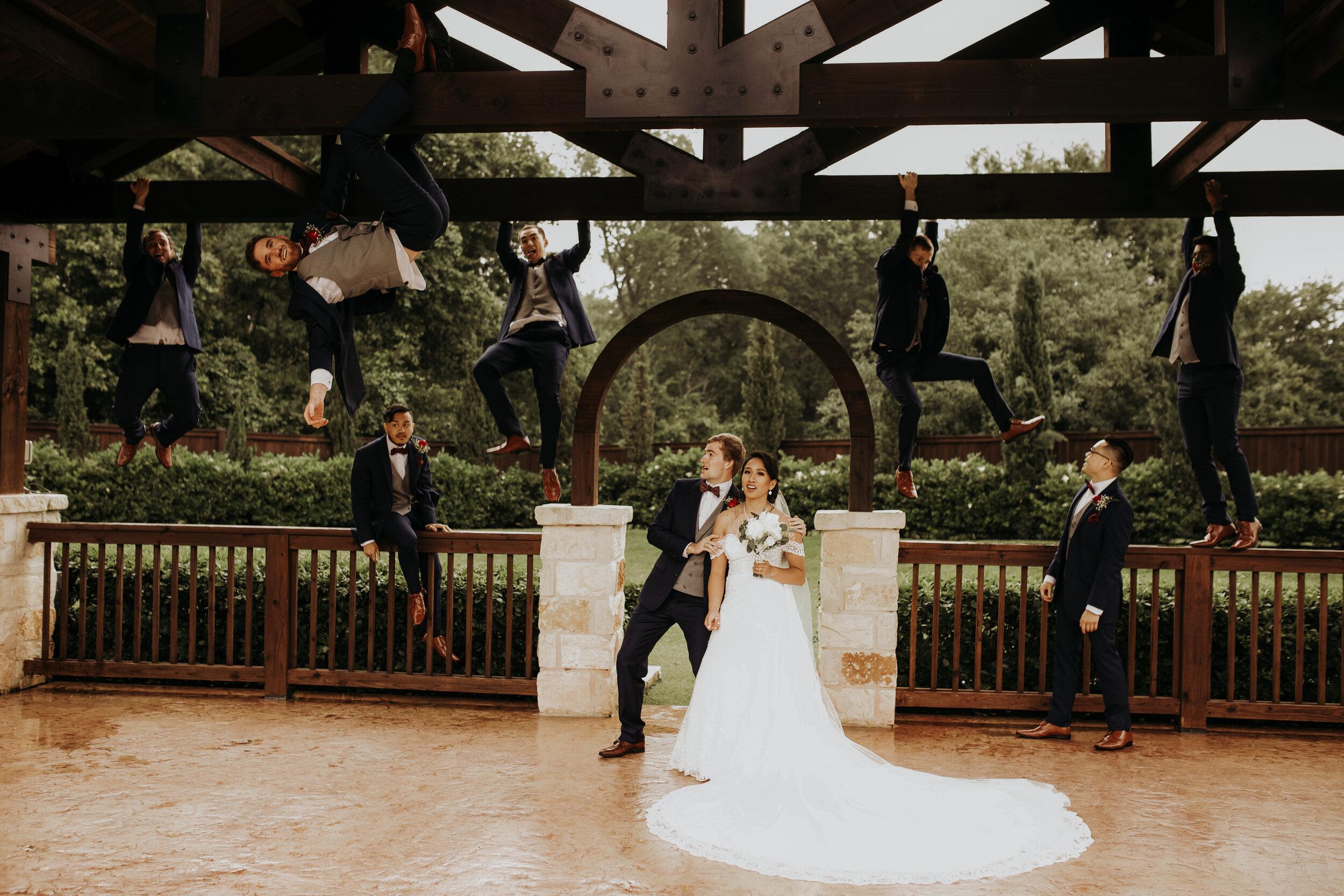Groomsmen Just Hanging Around || The Springs in Katy, TX || Houston Wedding Planner || Epoch Co+