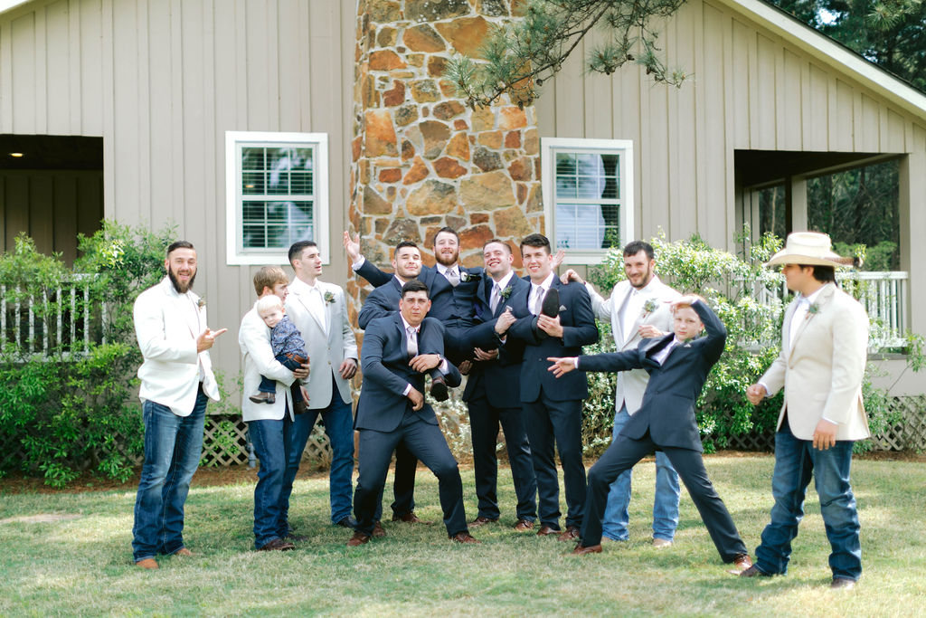 Groom and His Men | The Vine at New Ulm | Austin Wedding Planner