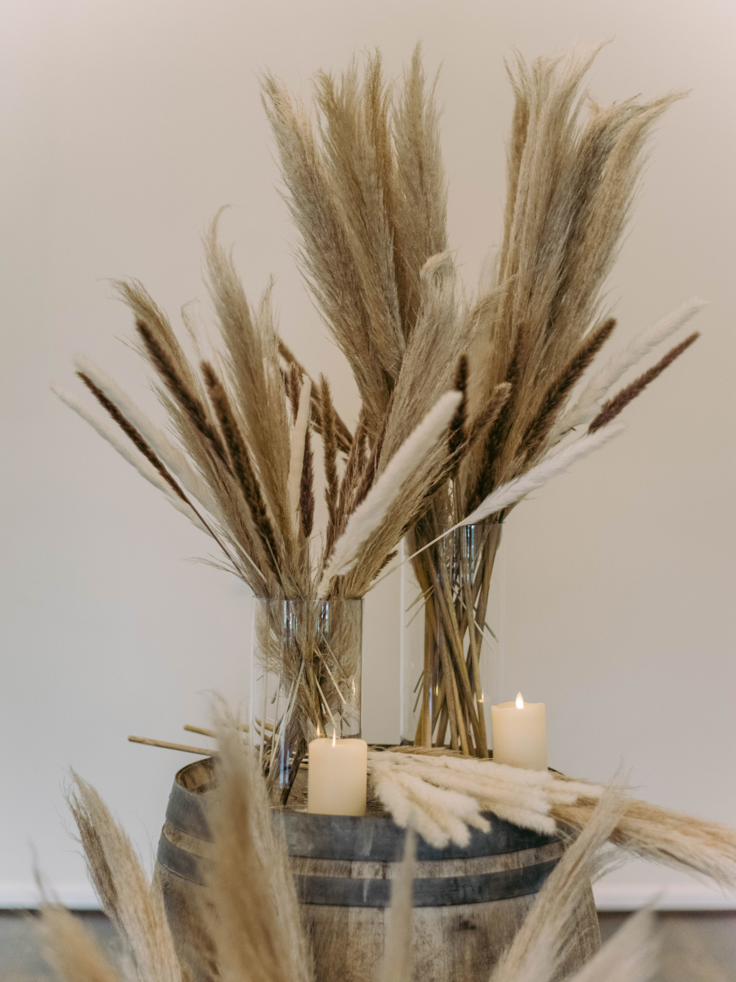 Pampas Grass Ceremony Scene | The Vine at New Ulm | Austin Planner