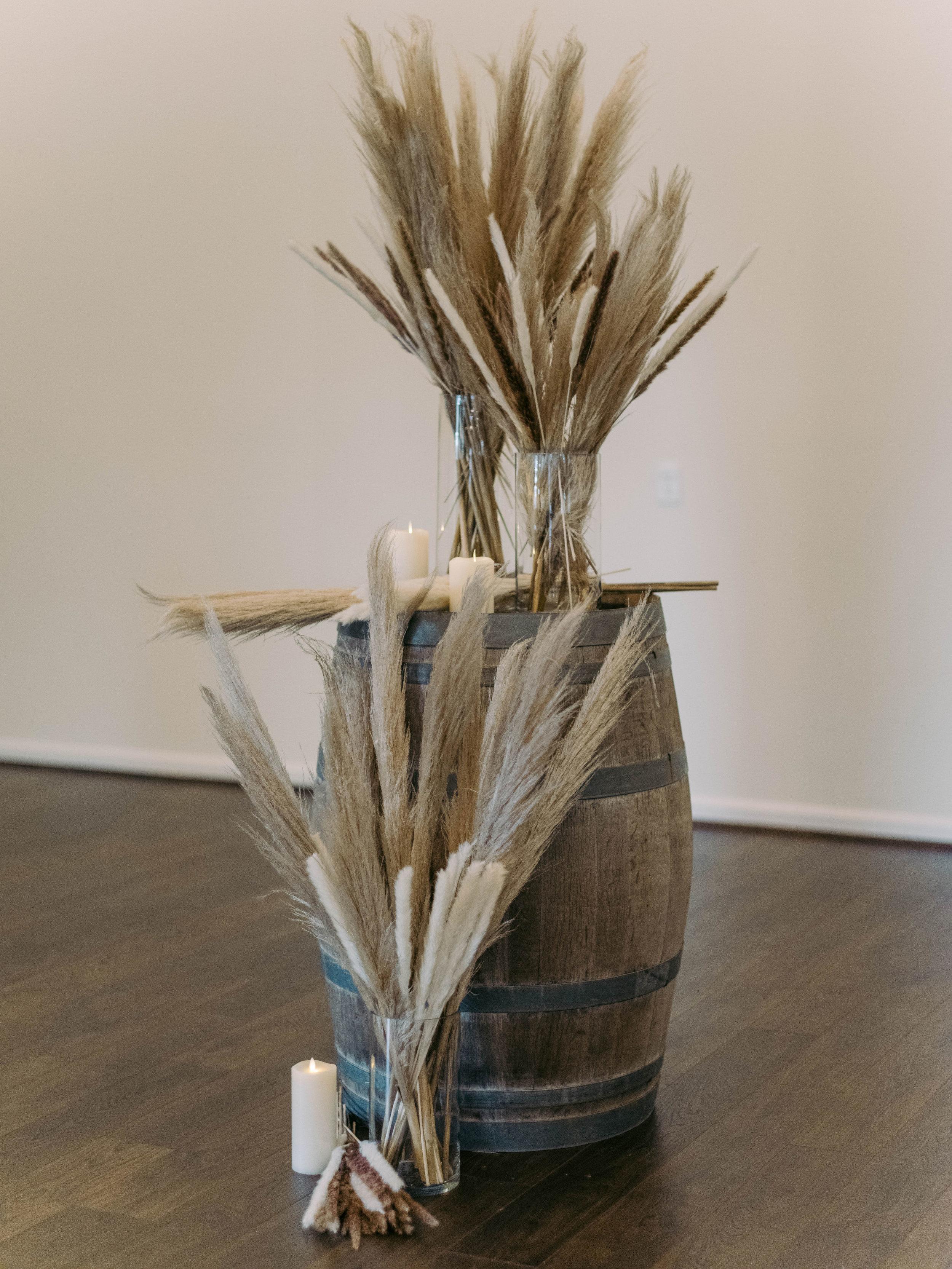 Pampas Grass Scene | The Vine at New Ulm | Austin Wedding Planner