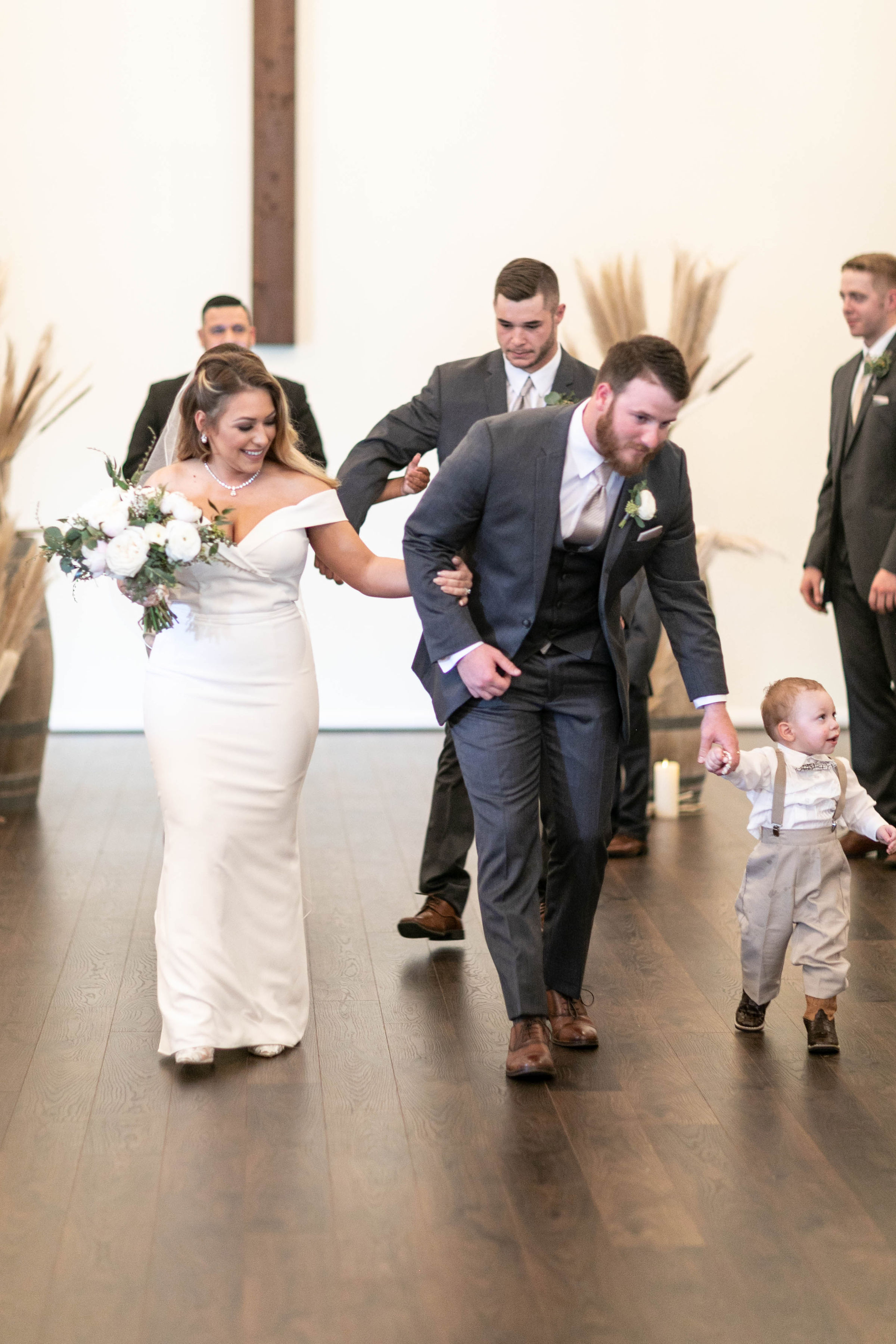 New Mr and Mrs with son | The Vine | Austin Wedding Planner