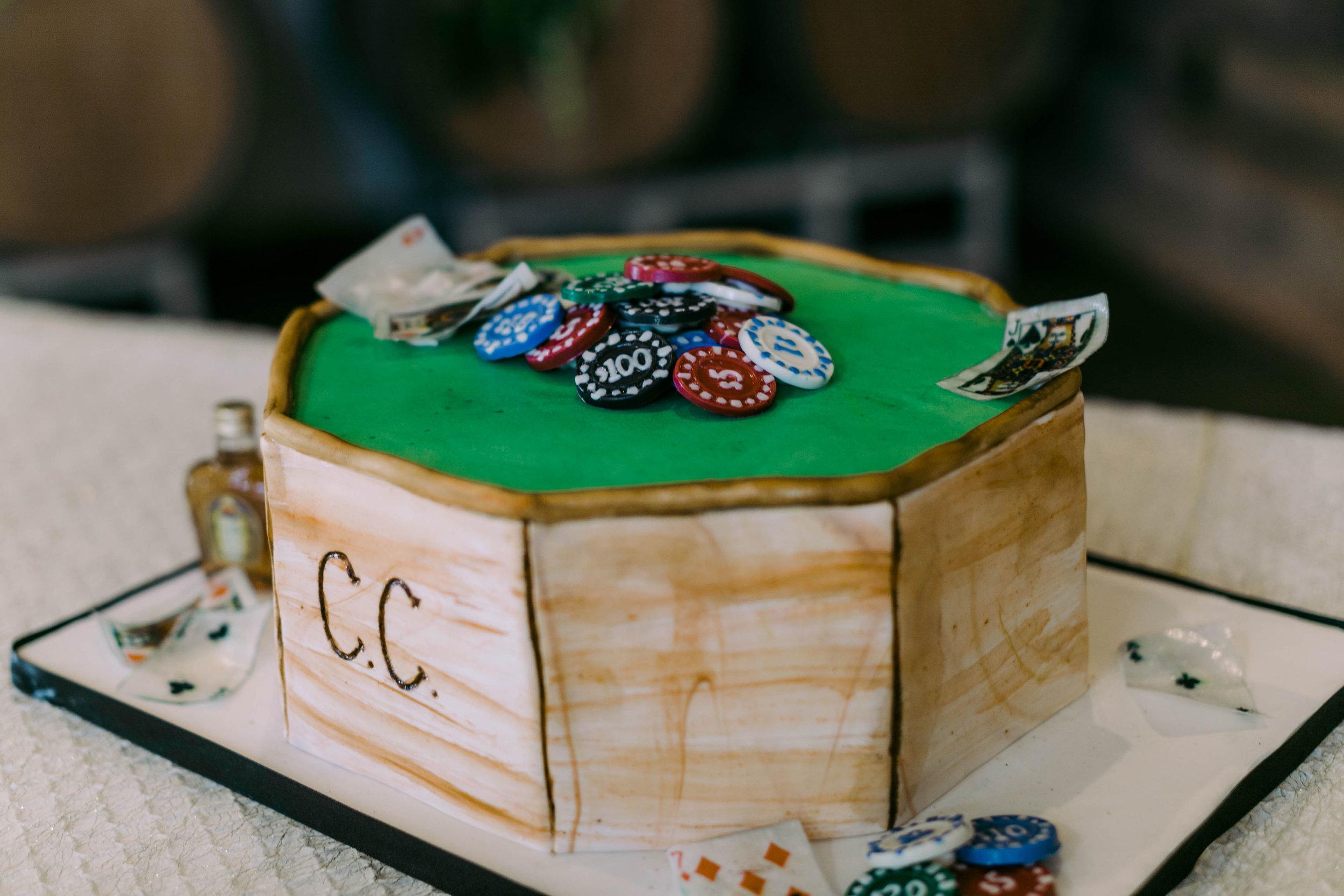 Grooms Cake | Poker Table | Austin Planner