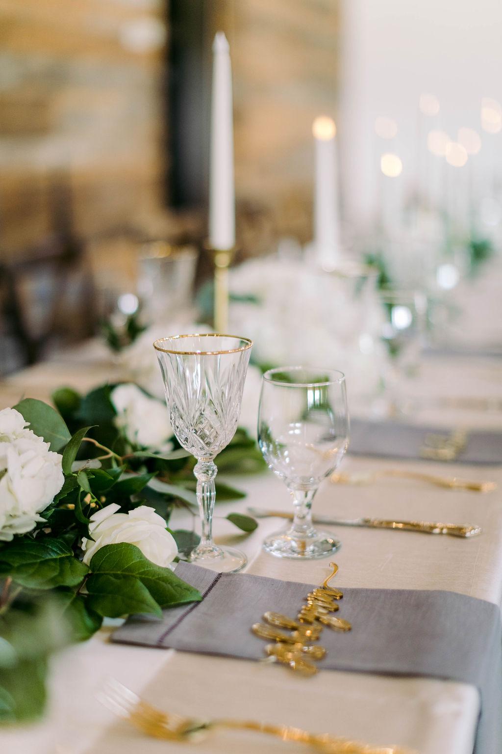 Head Table Setting | Napkin Place Settings | Austin Wedding Planner