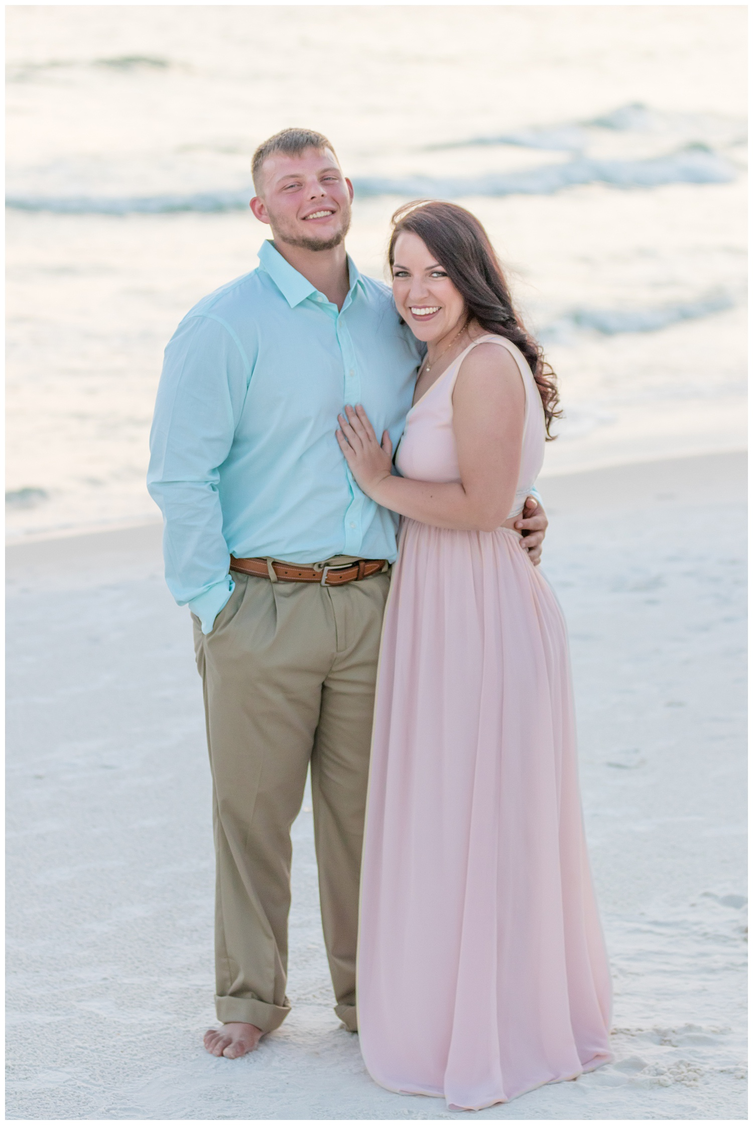 Panama city beach proposal session during couples session