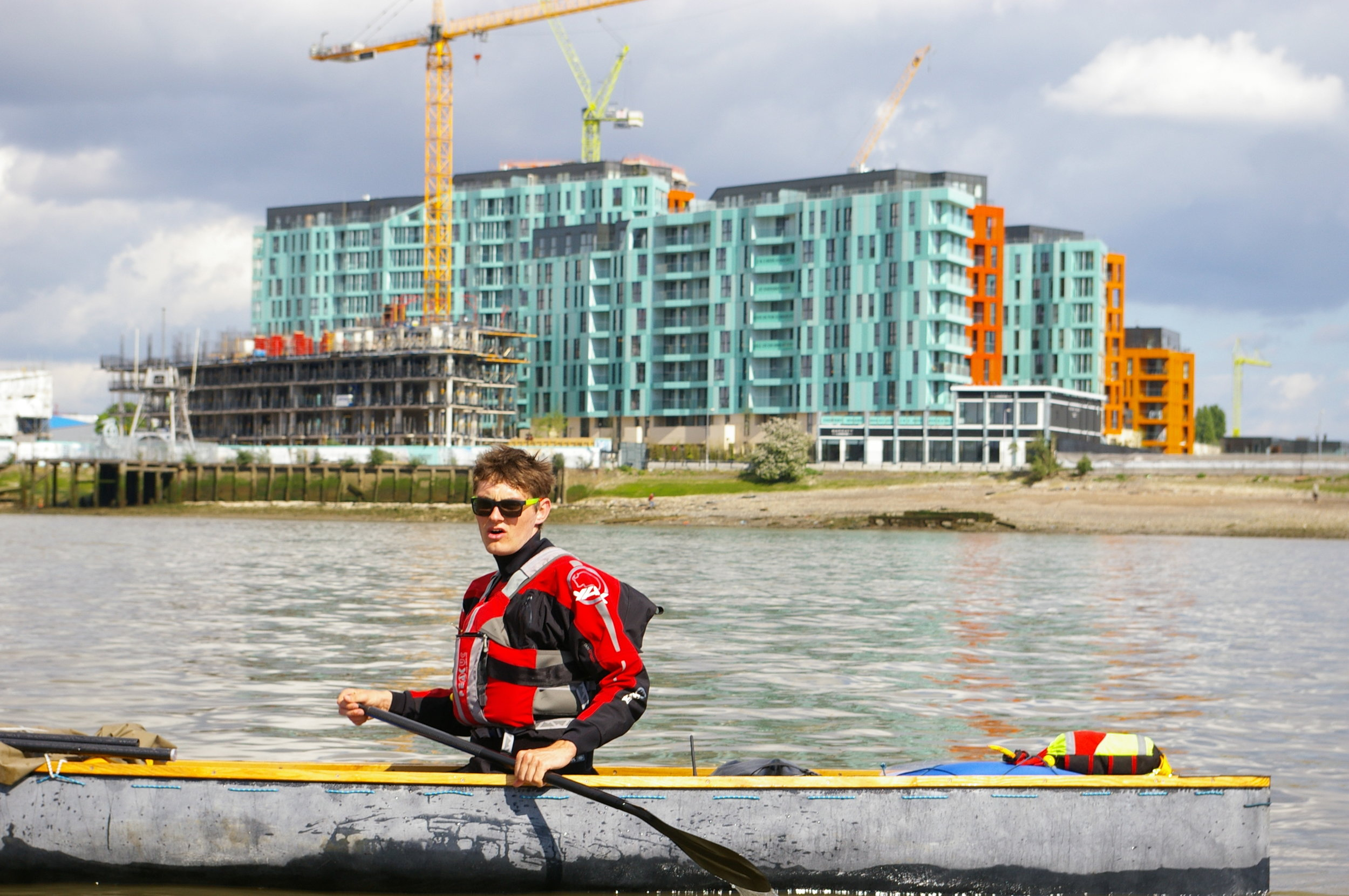my carbon canoe - In 2017 I designed and built my own carbon fibre canoe. Then I paddled it from my house, across the channel and on to Germany.The trip was a disaster - read about it here.