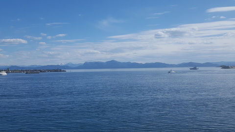 The North Sea as viewed from the pier in Os, Norway.