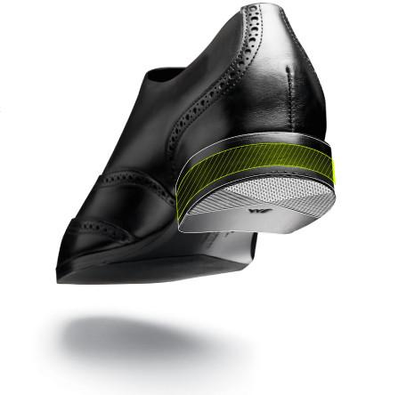 HDeva Heel  - Our foam compression system built to absorb the initial shock of each heel strike. The HDeva technology gets rid of the clunky wood and nails to make our dress shoes offer rebound with each step instead of weighing you down.