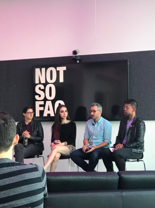 Panel at R/GA Connected by Pride, June 2018