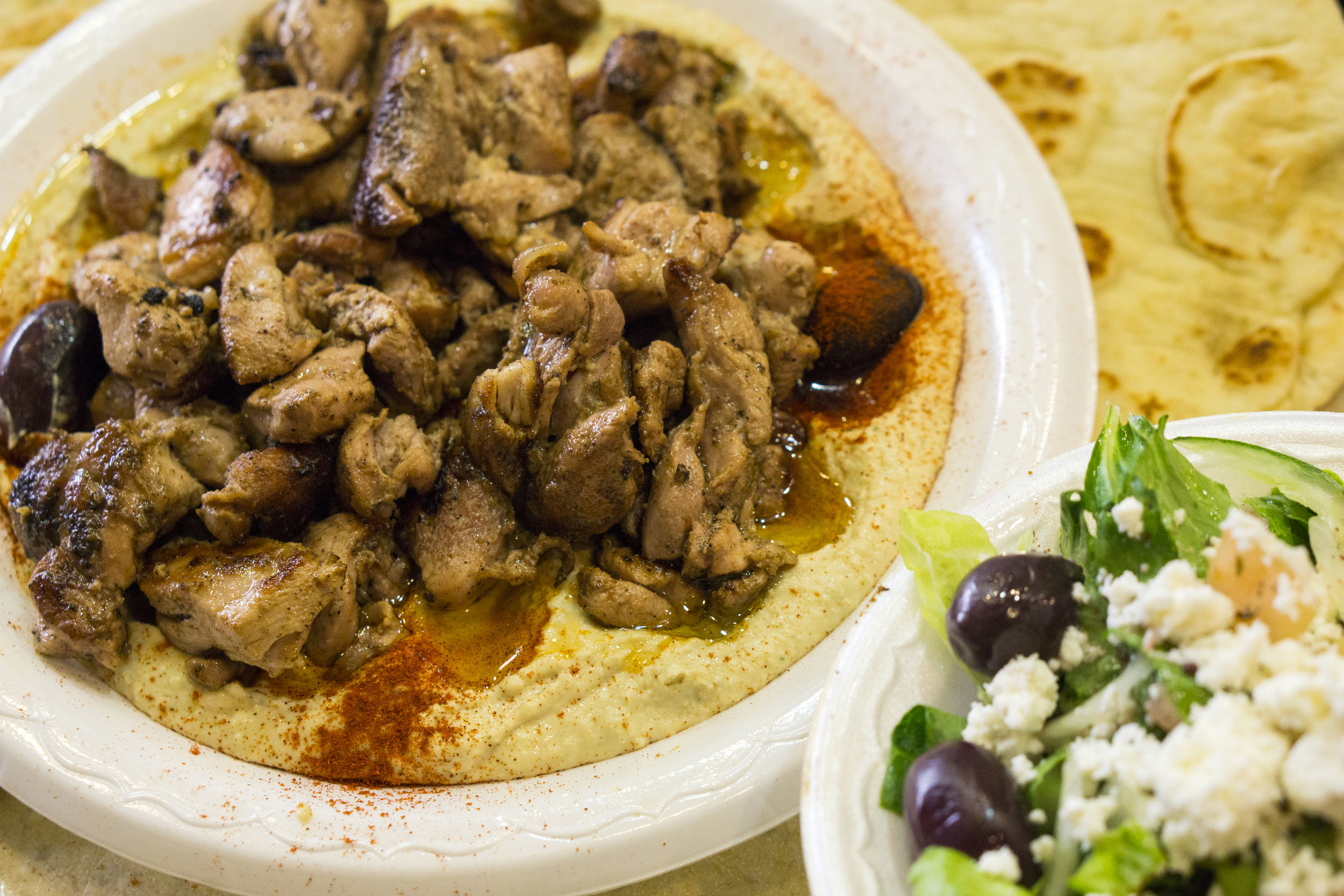 Hummus Plate with Shawarma